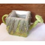 Кашпо чайник трава