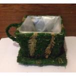 чашка с блюдцем мох трава н=16см