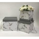 Набор коробок из 3х Мрамор