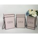 Набор коробок из 3х Квадрат (бледно-розовый)