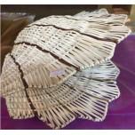 Плетеная ракушка белая большая