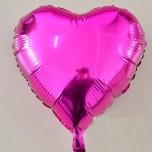 "Шар 18"" сердце фольга (розовый)"